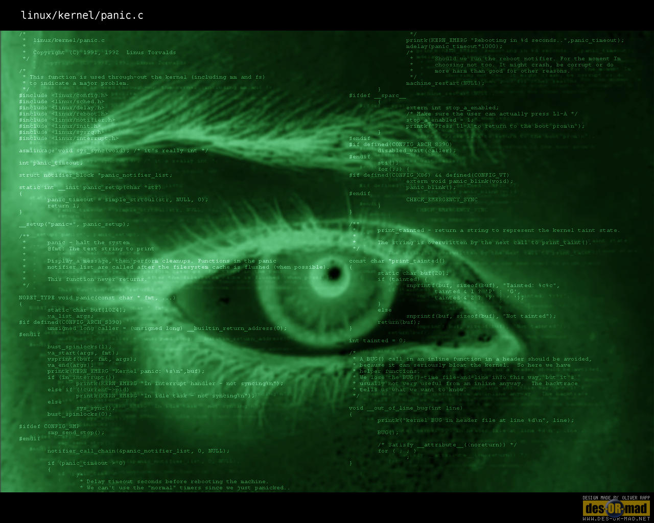kernel panic «Linux «OS wallpapers «Anime wallpapers
