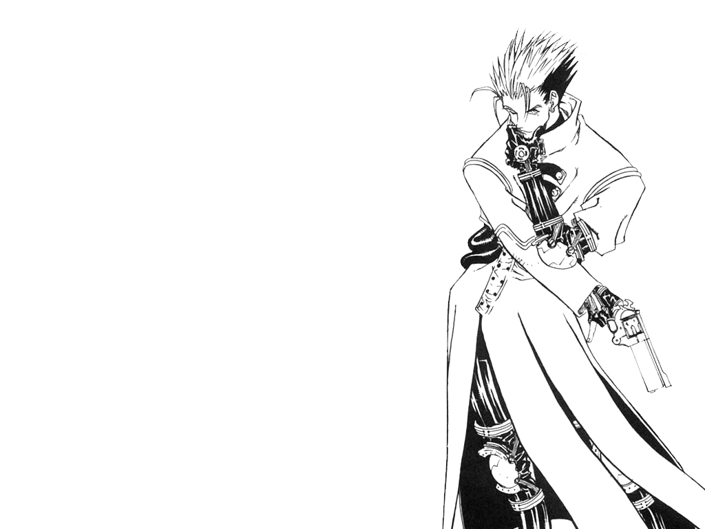 Vash Black And White 1024x768 Anime Wallpapers Anime Wallpapers