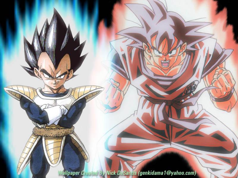 Dbz Wp 016 Vegeta Goku 800x600 Anime Wallpapers Anime
