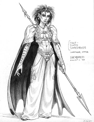half elf sorceress