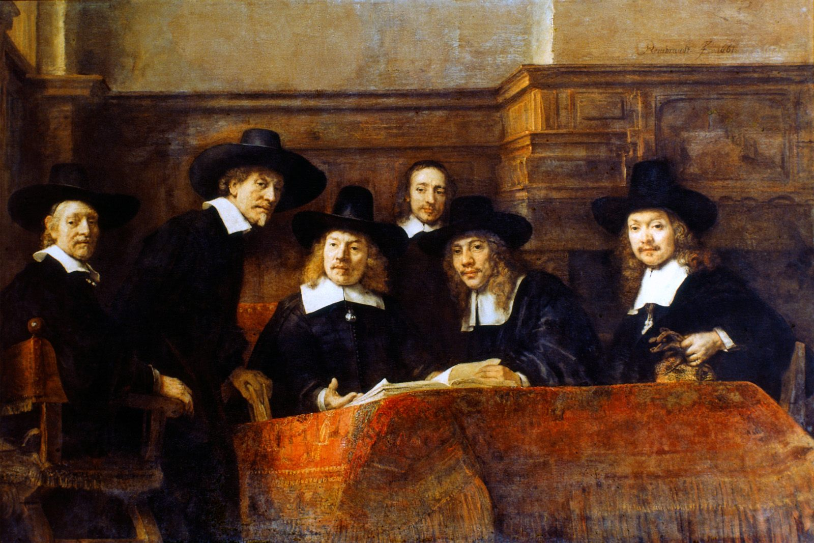 The syndics of the cloth guild rembrandt