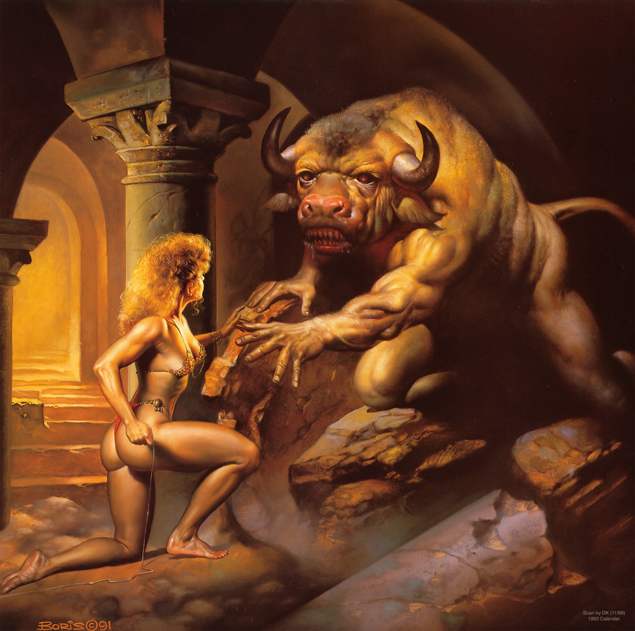 Minotaur screwing woman art nackt bitches