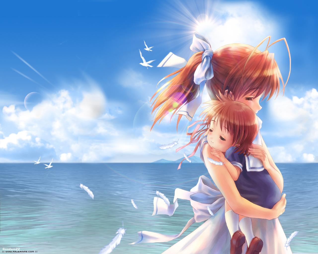 Фото аниме девушек с ребенком