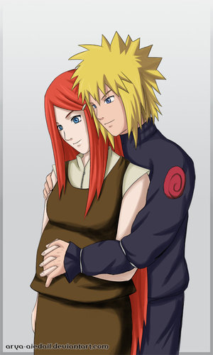 SPOILER  Kushina and Minato by Arya Aiedail