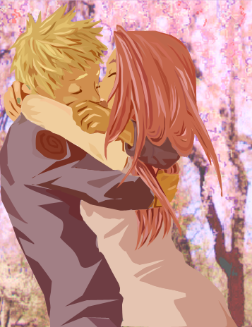 Naruto and Sakura Vector