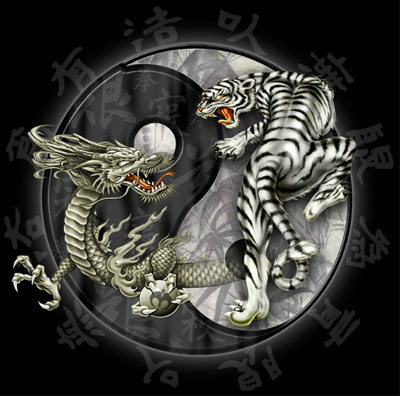 Dragon   Tiger (Yin Yang) (Wallpaper)